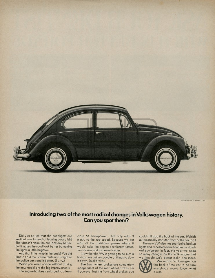 LÁMINA VOLKSWAGEN INTRODUCING 1966
