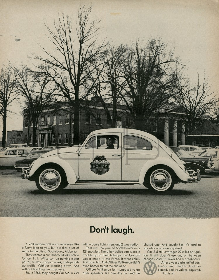 LÁMINA VOLKSWAGEN DON´T LAUGH 1966